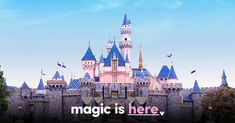 Disneyland castle - magic is here