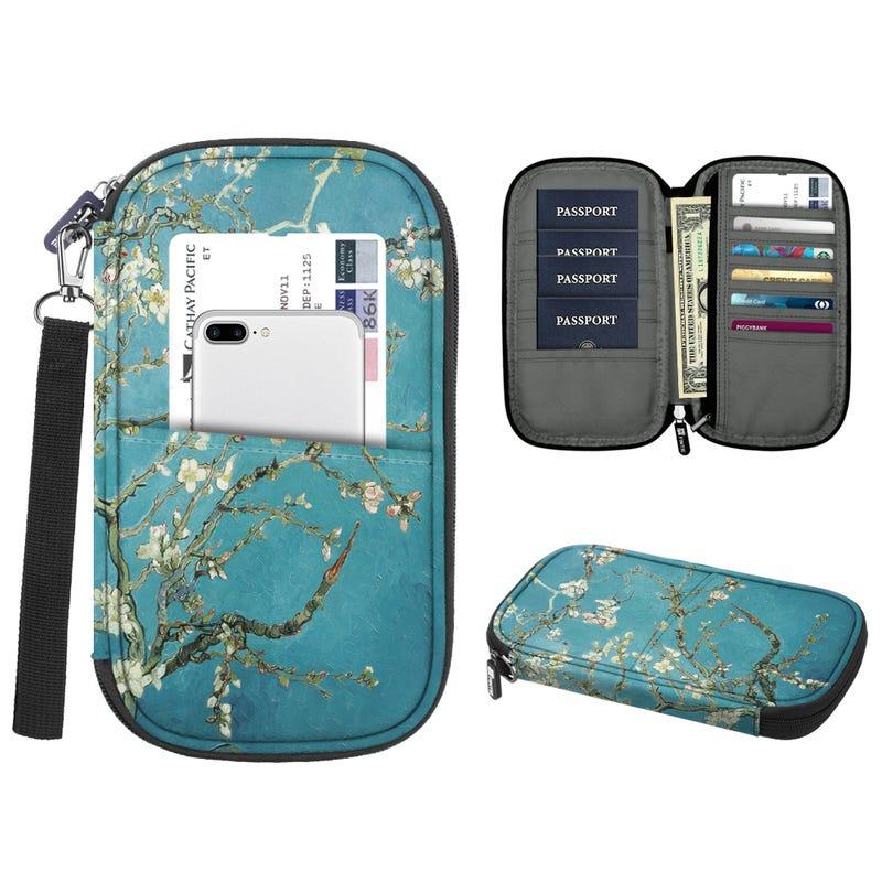 Family Travel Wallet Passport Holder