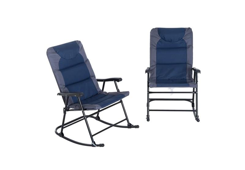 Folding camping rocking chair set