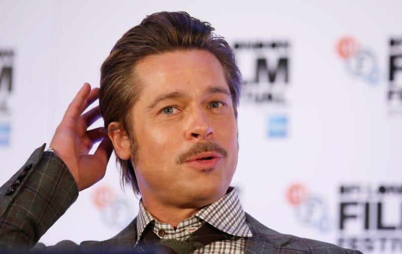 "Brad Pitt on a panel for ""Fury"""