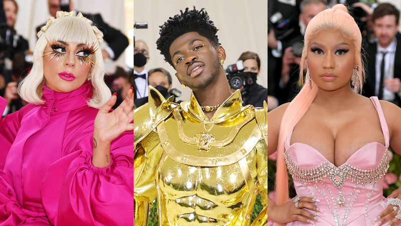Lady Gaga, Lil Nas X and Nicki Minaj