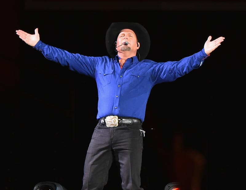 Garth Brooks performs at Yankee Stadium on July 8, 2016