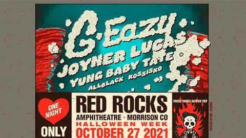 G-EAZY live at Red Rocks