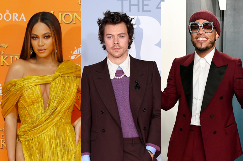 Beyoncé, Harry Styles and Anderson .Paak