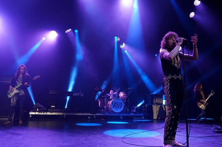 Greta Van Fleet perform at the The Met Philadelphia for their final performance of 2019