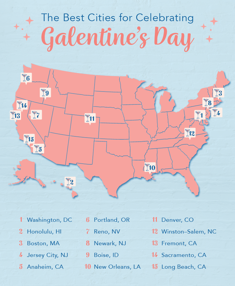 The best cities for celebrating Galentine's Day