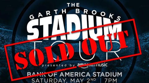 Garth Brooks Arena Tour is Coming to Charlotte
