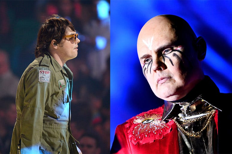 Gerard Way and Billy Corgan
