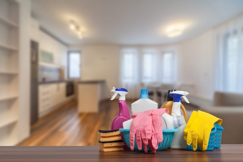 Clean, House, Living Room, Cleaning Supplies, Rubber Gloves