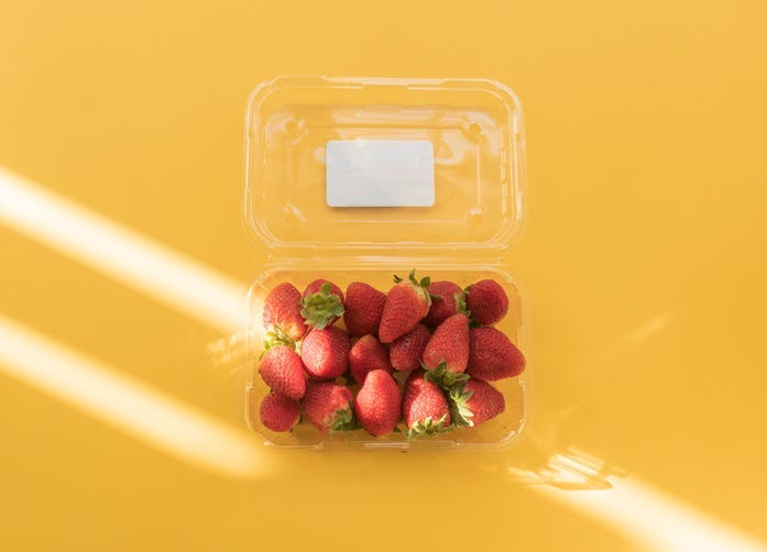 rinse strawberry carton before recycling