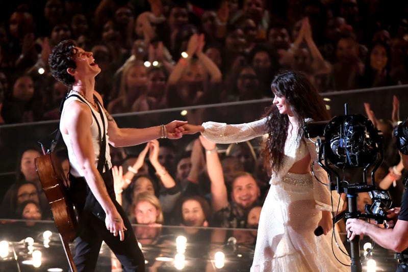 Camila Cabello and Shawn Mendes perform at the 2019 MTV VMAs