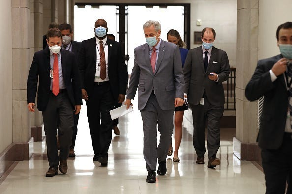 Kevin McCarthy wearing mask