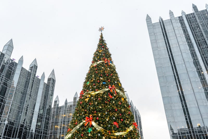 Christmas tree in the PPG Plaza