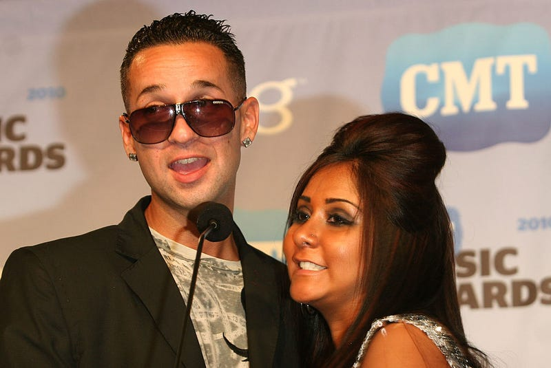 Mike 'The Situation' Sorrentino and Nicole 'Snooki' Polizzi attend the 2010 CMT Music Awards press room at the Bridgestone Arena on June 9, 2010 in Nashville, Tennessee.