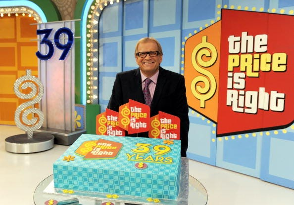 Drew Carey on set of 'Price Is Right'