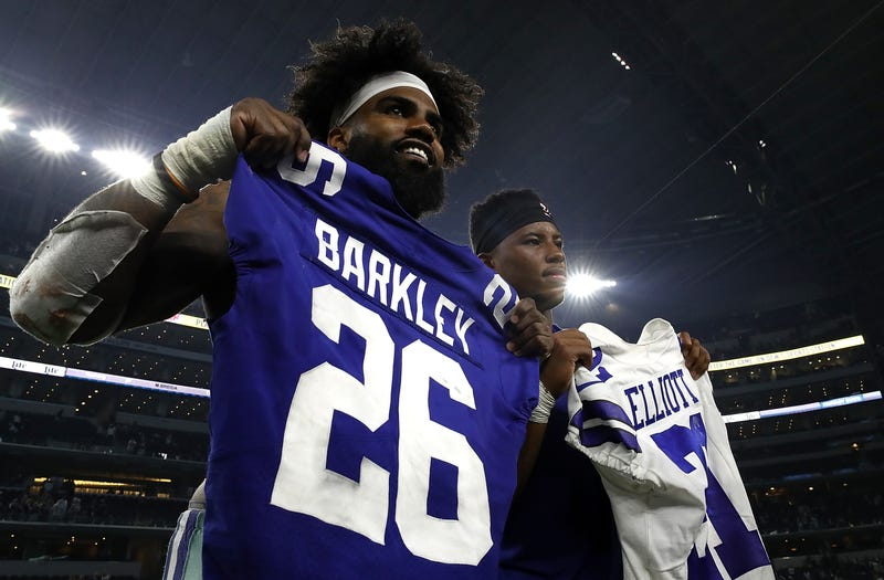 Ezekiel Elliott (left) and Saquon Barkley (right) are arguably the two best running backs in the NFL.