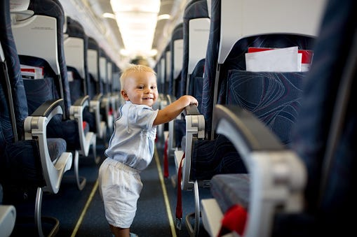 Airline Will Let You Know If a Baby Is Seated In Your Row