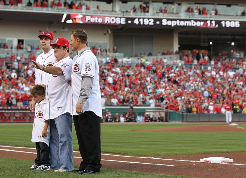 Pete Rose and his sons