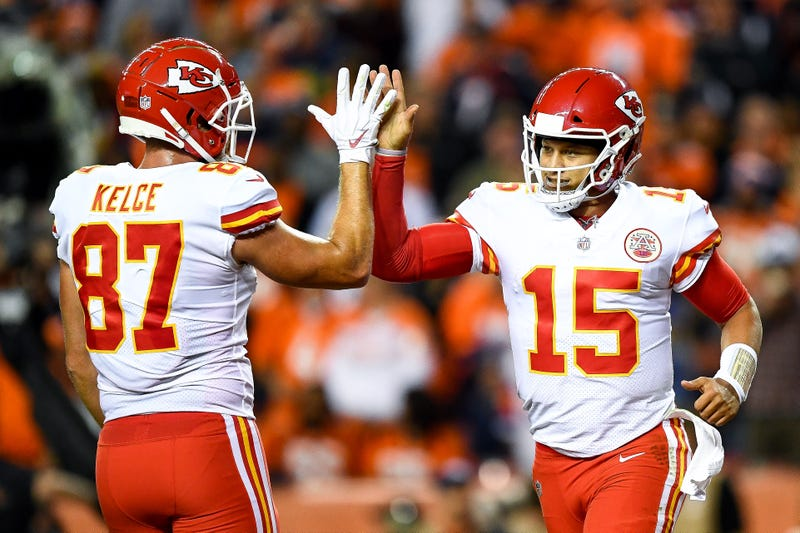 Travis Kelce and Patrick Mahomes