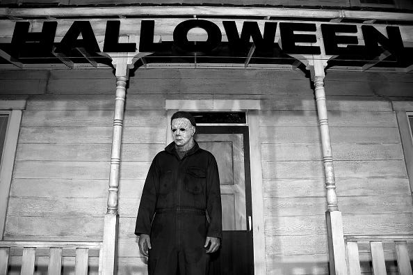 WATCH: 'Halloween' villain 'Michael Myers' spotted stalking Tropical Storm Teddy