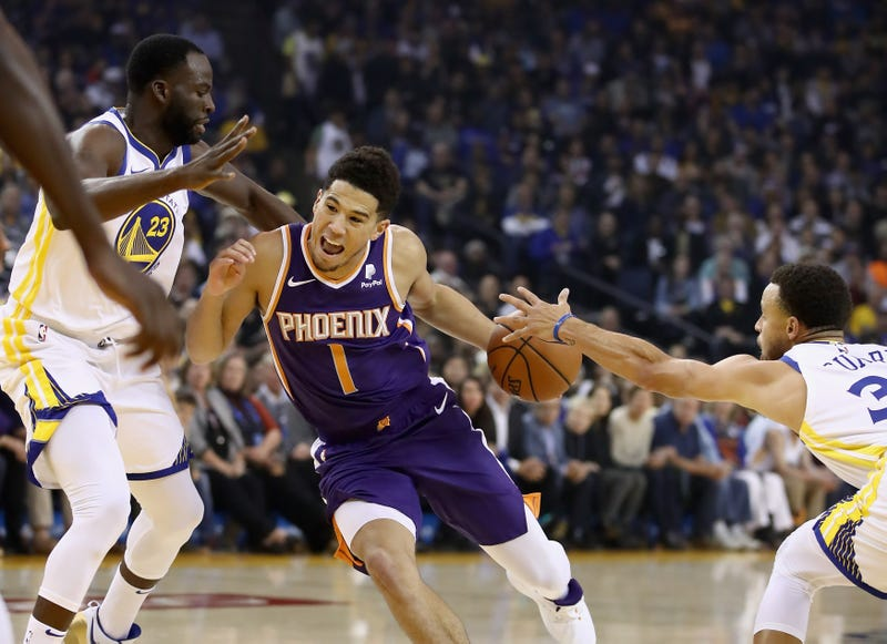 Devin Booker against the Golden State Warriors
