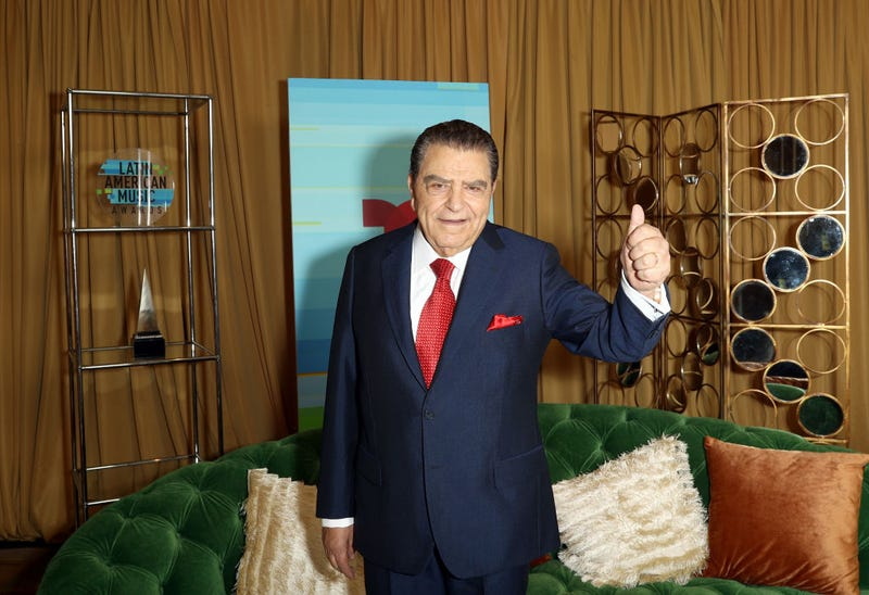 Don Francisco poses in the press room during the 2018 Latin American Music Awards at Dolby Theatre on October 25, 2018 in Hollywood, California.