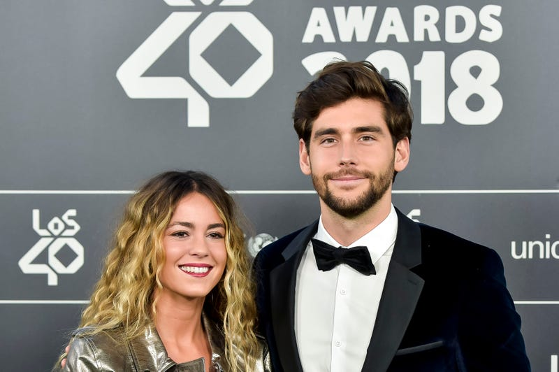 Sofia Ellar and Alvaro Soler attend during 'LOS40 Music Awards' 2018 at WiZink Center on November 2, 2018 in Madrid, Spain.
