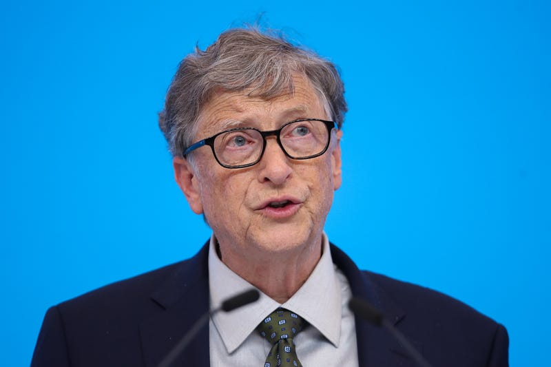bill gates pensive delivering speech
