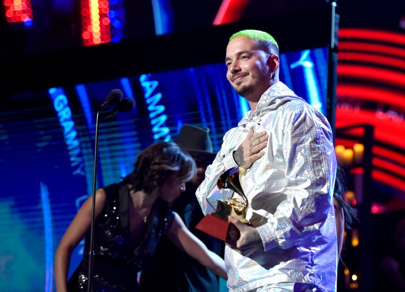 J Balvin accepts Best Urban Music Album for 'Vibras' onstage during the 19th annual Latin GRAMMY Awards at MGM Grand Garden Arena on November 15, 2018 in Las Vegas, Nevada.