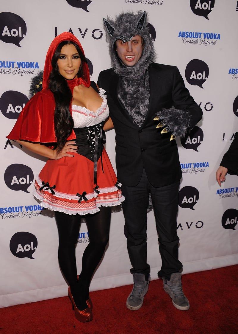 kim kardashian and jonathan cheban as little red riding hood and big bad wolf for hallowen