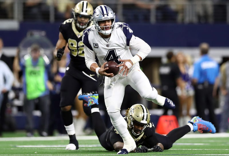 Dak Prescott and the Cowboys will take on the Saints Sunday.