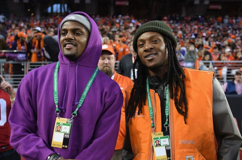 DeShaun Watson and DeAndre Hopkins