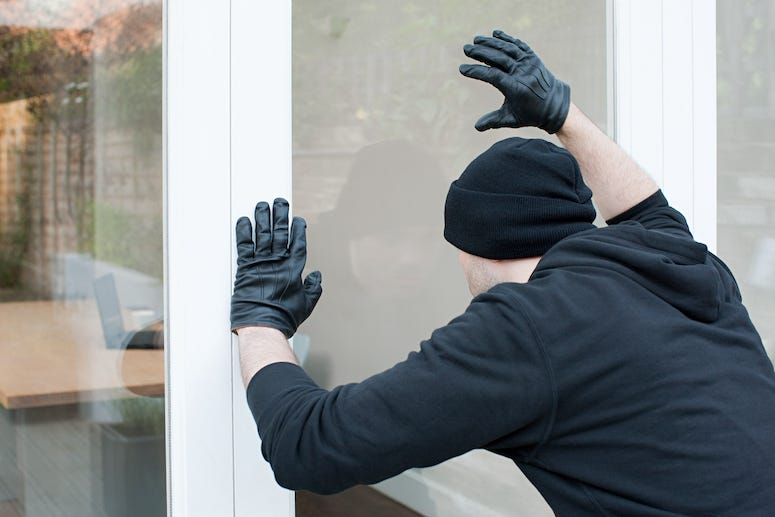 Burglar looking into window