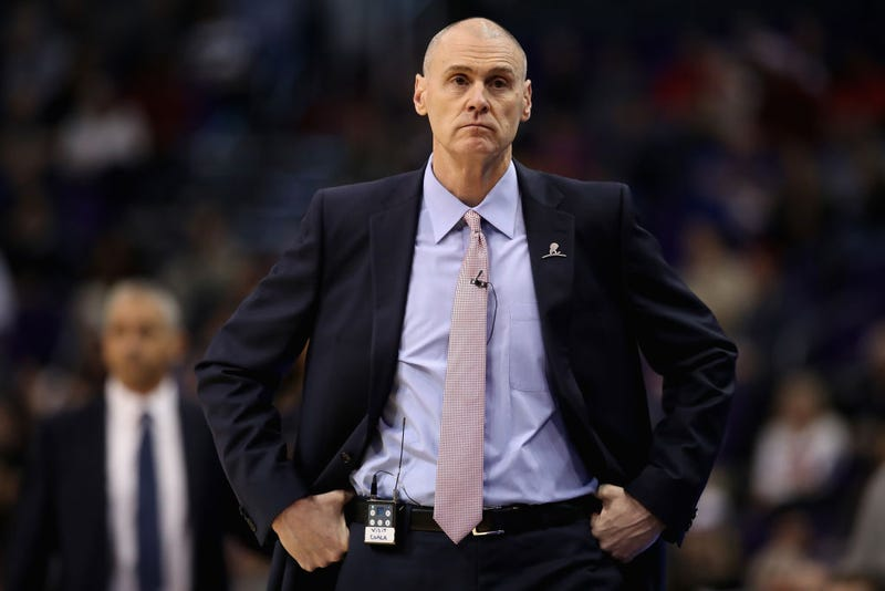 Head coach Rick Carlisle of the Dallas Mavericks reacts during the first half of the NBA game against the Phoenix Suns at Talking Stick Resort Arena on December 13, 2018 in Phoenix, Arizona.