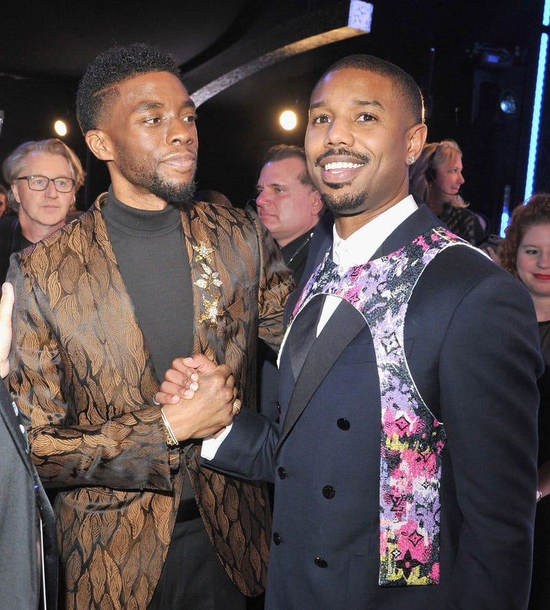 Chadwick Boseman and Michael B. Jordan at the 2019 SAG Awards