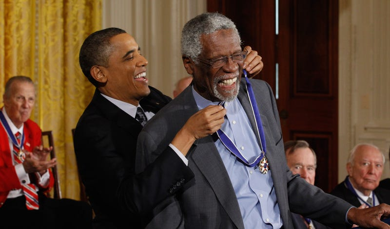Bill Russell and Barack Obama
