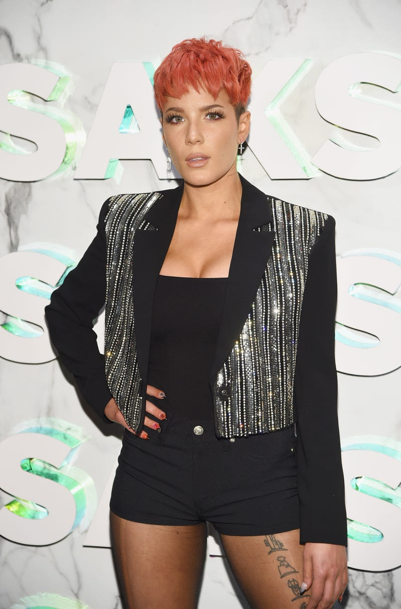 Halsey attends as Saks celebrates new main floor with Lupita Nyong'o, Carine Roitfeld and Musical performance by Halsey on February 7, 2019 at Saks Fifth Avenue in New York City