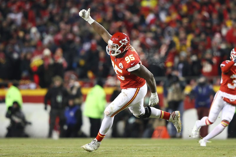 Chiefs DL Chris Jones celebrates a big play