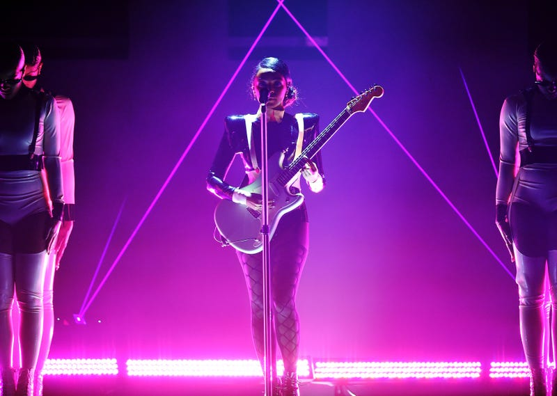 Janelle Monae performs onstage during the 61st Annual GRAMMY Awards at Staples Center on February 10, 2019 in Los Angeles, California.