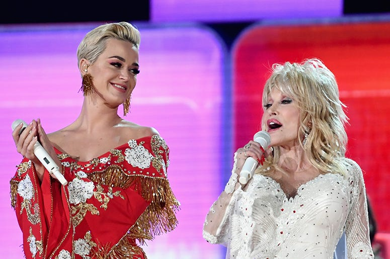 Katy Perry and Dolly Parton