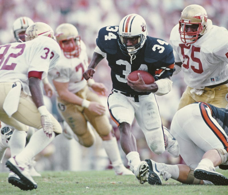 Heisman winner Bo Jackson during his Auburn heyday