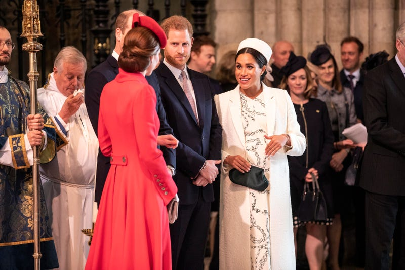 meghan markle prince harry and princess kate at commonwealth