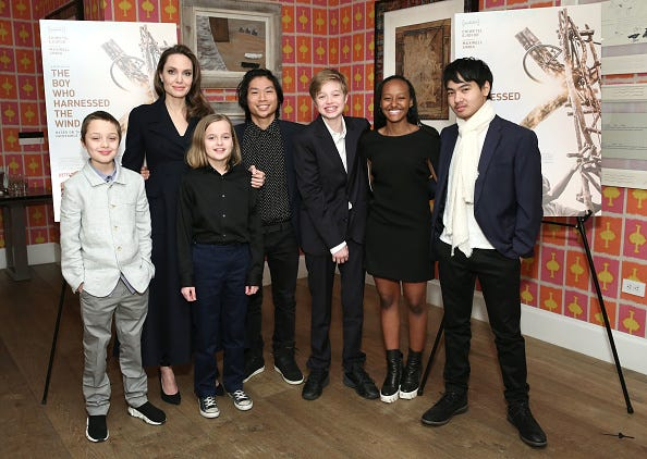 Angelina Jolie and her six children