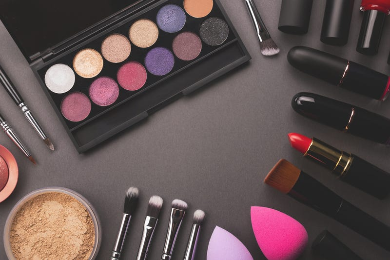 Makeup flat lay