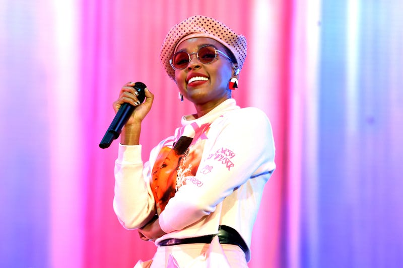 Janelle Monáe performs on Coachella Stage during the 2019 Coachella Valley Music And Arts Festival on April 12, 2019 in Indio, California.