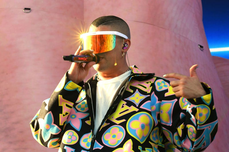 Bad Bunny performs on Coachella Stage during the 2019 Coachella Valley Music And Arts Festival on April 14, 2019 in Indio, California.