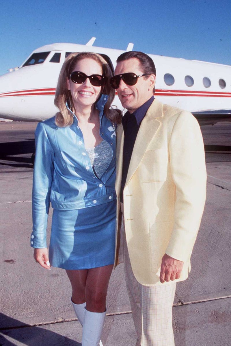 Sharon Stone and Robert De Niro on the set of 'Casino'