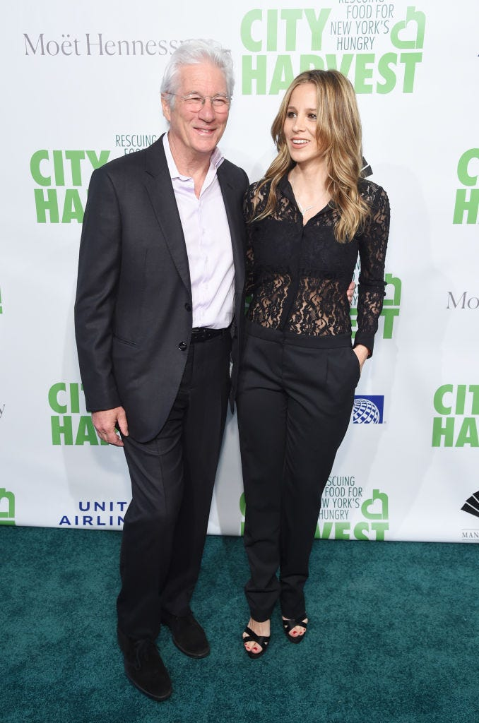 Richard Gere and Alejandra Silva attends City Harvest: The 2019 Gala on April 30, 2019 at Cipriani 42nd Street in New York City.