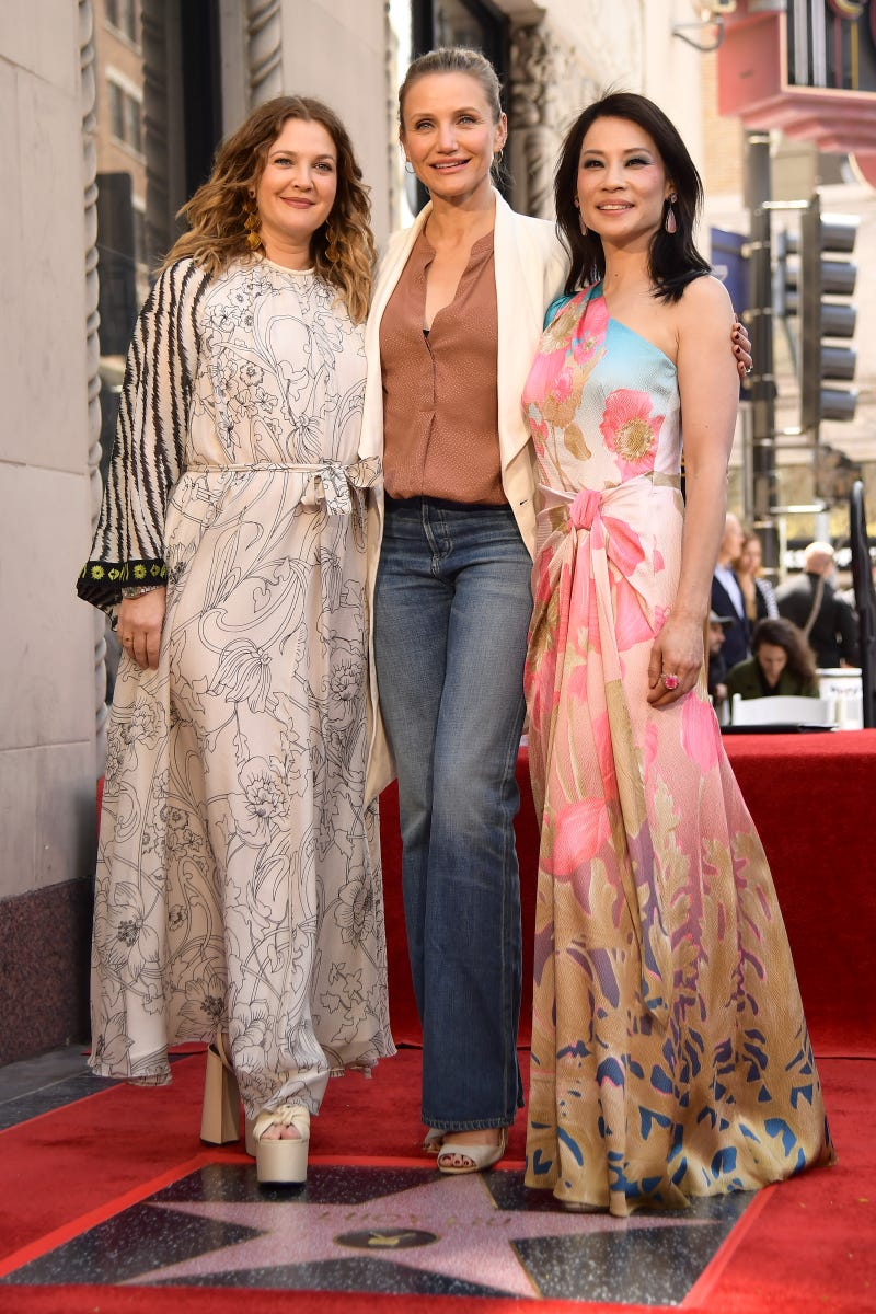 drew barrymore cameron diaz and lucy liu hollywood star walk of fame may 2019