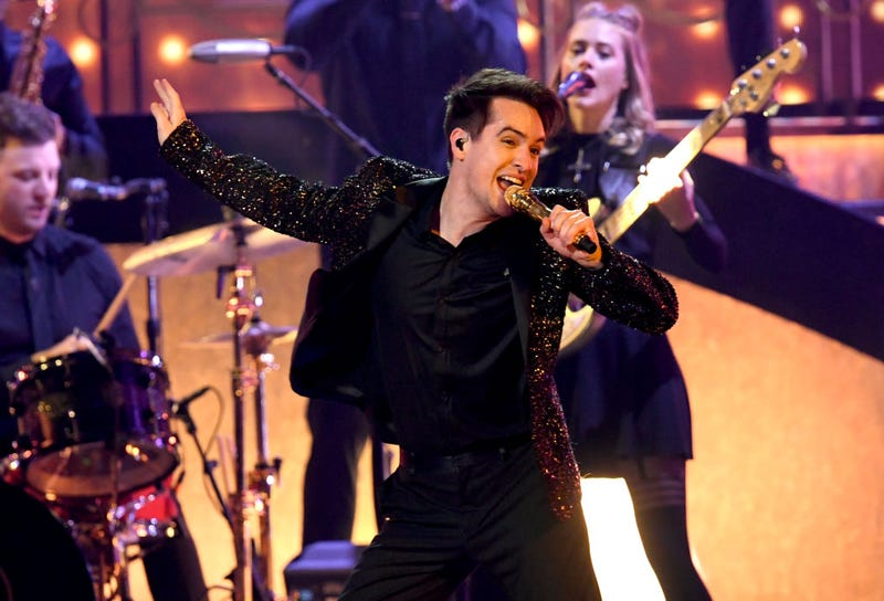 Brendon Urie of Panic! at the Disco performs onstage during the 2019 Billboard Music Awards at MGM Grand Garden Arena on May 01, 2019 in Las Vegas, Nevada
